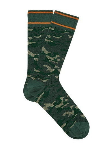 Mavi Erkek  Kamuflaj Baskılı Çorap 092358-31295 Yeşil
